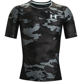 Under Armour HeatGear Isochill Printed Short Sleeve Shirt Men, black-white